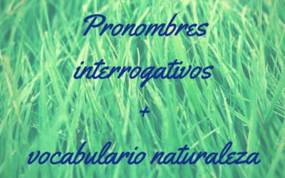 Pronombres interrogativos II y vocabulario de naturaleza